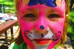 Girl Pink Face paint