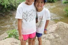 MudMuckingB Girls in front of creek
